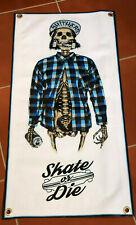 Skate or Die thick canvas banner skateboard poster Ripper hat cap truck beer Z04