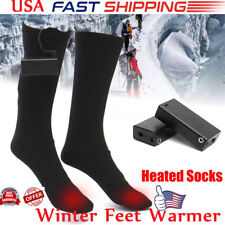 4bf75ae9e08 Electric Battery Heated Socks Feet Warmer Heater Ice Fishing Foot Shoe Boot  Warm