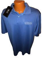 NWT Adidas Golf CIROC Vodka Climacool Blue Polo Golf Shirt Size L Large