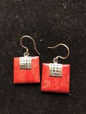Jasper Earrings Cabo Silver: Red