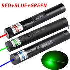 3PCS 5mW 100Miles Green Red Blue Laser Pointer Pen Lazer Zoom Visible Beam Light