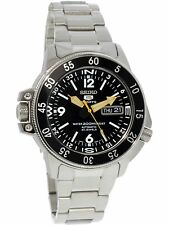Seiko Men's Automatic SKZ211K Black Stainless-Steel Self Wind Fashion Watch