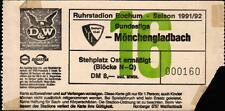 Ticket BL 91/92 VfL Bochum - Borussia Mönchengladbach