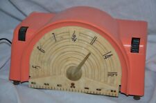 """Very 50's! Emerson 744 """"Bandshell"""" Radio in Pink"""