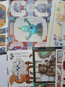 LARGE MIXED BUNDLE OF CARDMAKING KIT FOR CHILDREN KIDS, TOPPERS, DECOUPAGE, ROBO
