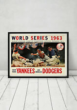 1963 World Series New York Yankees LA Dodgers Program Cover Art Vintage Baseball