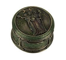 Celtic Triple Goddess Maiden Mother Crone Trinket Box