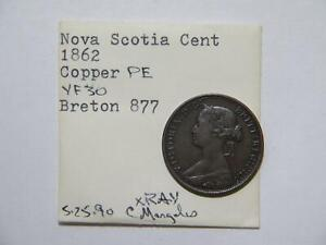 CANADA NOVA SCOTIA 1862 ONE CENT EX:DONALD G PARTRICK BR-877 #TUE 🌈⭐🌈