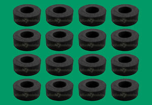 """16 Smooth Rubber Bumpers for 1/2"""" Foosball Table Rods-Foosball Bumpers"""