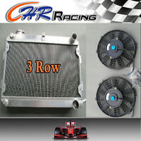 3 ROW Aluminum Radiator for Mazda RX-7 RX7 S1 S2 S3 MT 1979-1985 1980 + 2*FANS