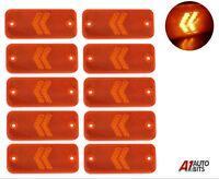 Ten Direction Led Side Orange Marker Lights 12V/24V Trailer Truck Lorry Chassis