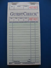 FIVE NATIONAL CHECKING SINGLE LINE GUEST CHECK BOOKS (240)