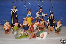 NEW Disney SNOW WHITE & THE 7 DWARFS Custom Ornaments 13 pc