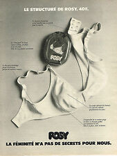 PUBLICITE ADVERTISING 044  1973  ROSY   soutien gorge STRUCTURE