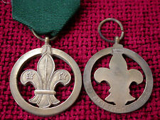 Replica Copy Scout Medal of Merit Full Size Aged -moulded from original