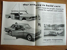 1961 Chrysler Lancer Plymouth Newport Ad  Our New Way to Build Cars