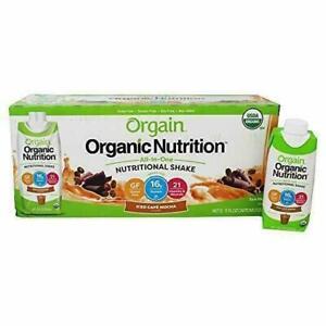 Orgain Organic Nutritional Iced Cafe Mocha Shake - Pack of 12