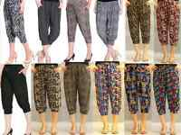 Pants Women's Clothing Yoga Harem Casual Pants 3/4 Cropped Comfy Capris BNWT8>16