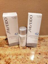 NEW 2 PC Shiseido Anti-aging UV care 42 Urban environment protection cream .23FL