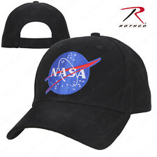 21149af65ea NASA Black Low Profile Baseball Cap Space Hat Ballcap Rothco 3798