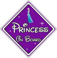 Disney Princess On Board Car Sign - Elsa From Frozen - Purple