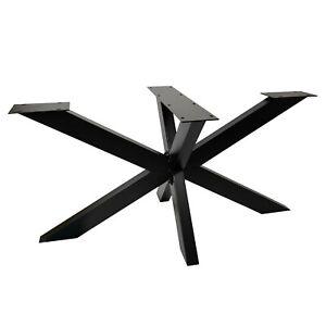 TISCHGESTELL SPIDER Tischkufen Schwerlast Tischbein Design metall Kreuzgestell