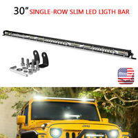 30in 234W LED Work Light Bar Slim Combo Single Row Offroad Lamp Truck SUV ATV US