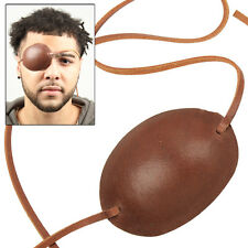 Pirate Captain Leather Eye Patch Brown Costume Re-enactment