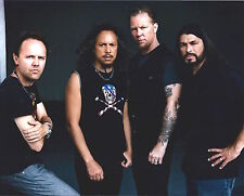 Lars Ulrich signed Metallica 8x10 photo - In Person Proof - Kirk, James Hetfield