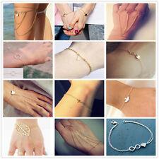 New Fashion Women Gold Plated Punk bracelet Cuff Elegant bracelet Jewelry Gift