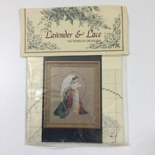 Lavender And Lace Guardian Angel Cross Stitch Pattern 1992