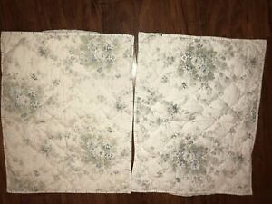 """Simply Shabby Chic Shadow Rose Blue Standard Pillow Sham 20"""" x 26"""" Hand Quilted"""