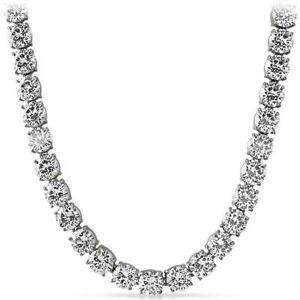Iced Out Tennis Chain   Prong Set CZ   Stainless Steel   NEVER FADE OR TARNISH