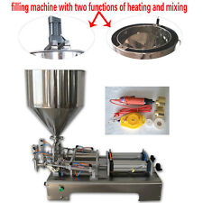 2 head pneumatic filler machine for cosmetic,honey,sauce,cream with heater,mixer