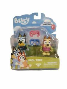 Bluey & Bingo Pool Time Moose 2 Pack Action Figure New