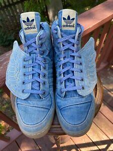 US Size 11.5  Adidas Jeremy Scott JS DENIM WINGS 2.0  AUTHENTIC V24621 RARE