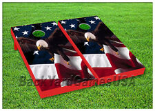VINYL WRAPS Cornhole Boards DECALS Bald Eagle USA Bag Toss Game Stickers 127