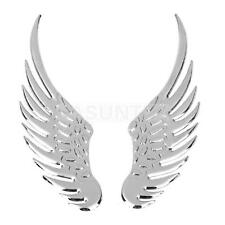 Pair Cool 3D Wings Car Auto Motorcycle Logo Emblem Badge Decal Metal Sticker