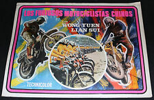 Los Furiosos Motociclistas Chinos Mexican VHTF Lobby Card (C6/C7) 1960's