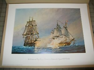 """The Continental Navy Sloop RANGER Defeated 16x11"""" Color Print Independence Mall"""