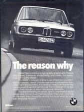 BMW CARS - Vintage 1970s Original (NOT Repro!) ADVERTISEMENT. Free UK Postage