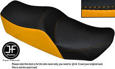 BLACK AND YELLOW VINYL CUSTOM FITS KAWASAKI Z 550 LTD DUAL SEAT COVER ONLY