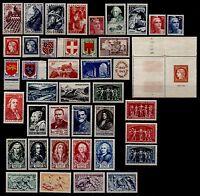 L'ANNÉE 1949 Complète, Neufs * = Cote 107 € / Lot Timbres France (Bande entière)