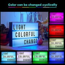 NEON Cinematic Cinema Light Up Letter Box Sign Lightbox RGB 7 COLORS CHANGING