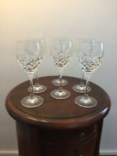 More details for antique crystal wine glasses set of 6 immaculate