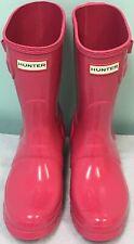 Hunter Original Short Rain Boots Wellies Bright Pink US 6 EU 37 Brand New $140