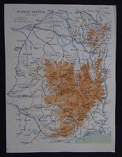 Carte FRANCE PLATEAU CENTRAL MASSIF map cours géographie ECOLE MILITAIRE 1931