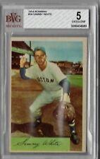 1954 Bowman Sammy White #34 BVG Beckett 5 P357