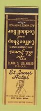 Matchbook Cover - St James Hotel Red Wing MN Indian