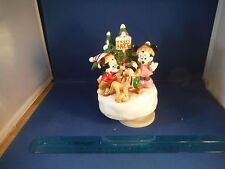 "Vintage Disney Mickey Mouse Christmas Trees For Sale""Jingle Bell Rock"" Music Box"